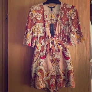 """BCBG Floral Romper """"New With Tags """""""